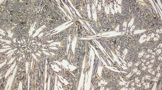 Typical microstructure VAUTID wear plate 100